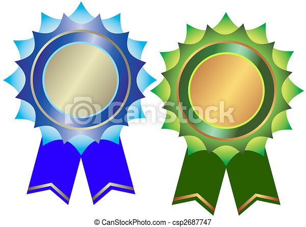 Set of bronze and silvery awards (vector) - csp2687747
