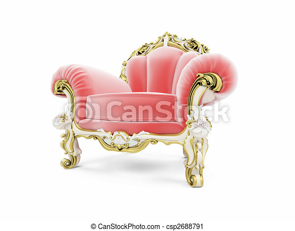 royal red velvet furniture - csp2688791