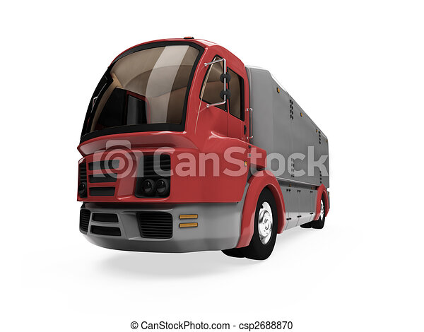 Future concept of cargo truck isolated view - csp2688870