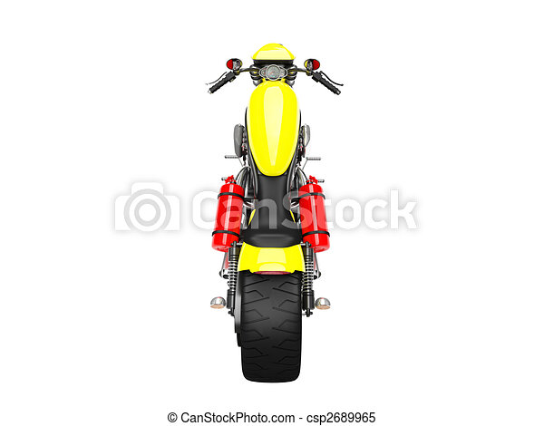 isolated moto back view 02 - csp2689965