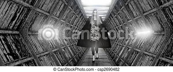 Fashion model doing the catwalk - csp2690482