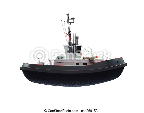 small boat front view - csp2691534