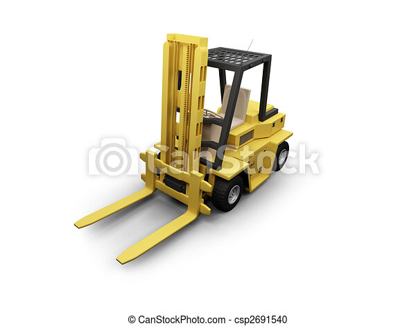 SmallFork isolated heavy machine front view 02 - csp2691540