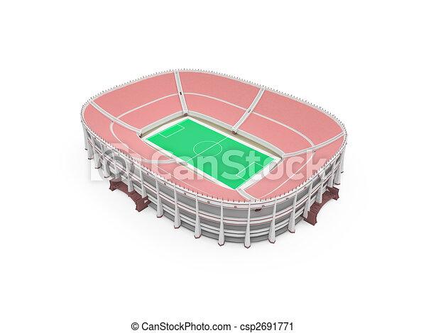 stadium over white - csp2691771