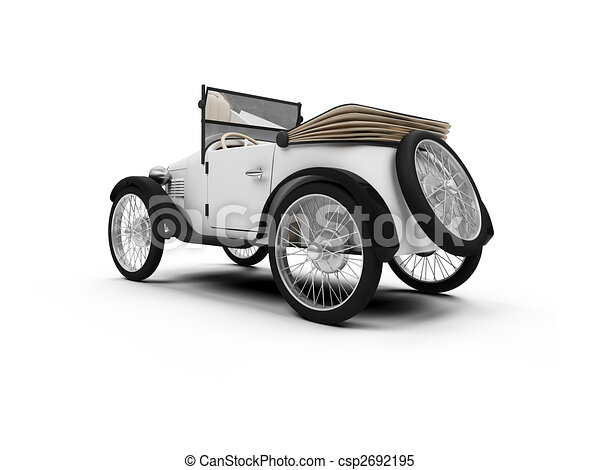 Old fashioned retro car - csp2692195