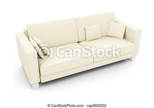White sofa over white - csp2692202