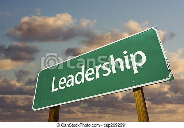 Leadership Green Road Sign - csp2692391