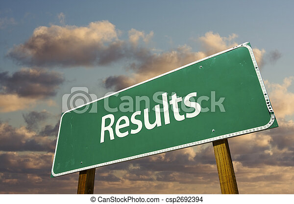 Results Green Road Sign - csp2692394