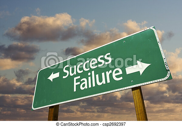 Success and Failure Green Road Sign - csp2692397