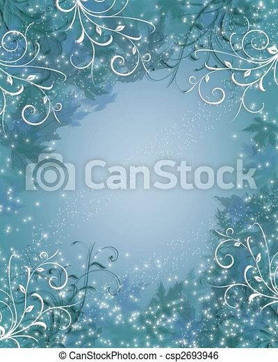 Christmas Background winter sparkle blue - csp2693946