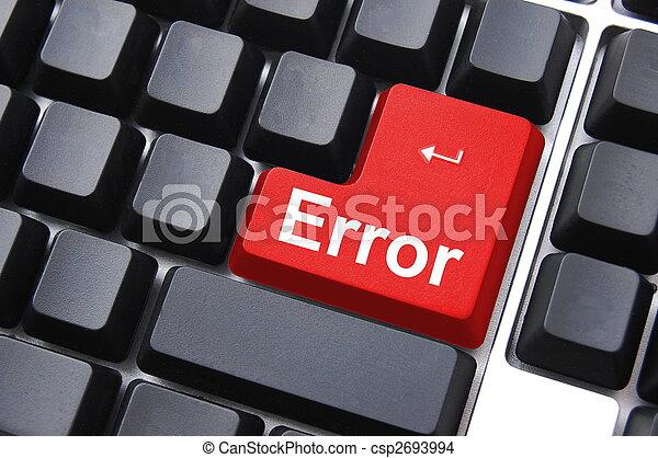 error button - csp2693994