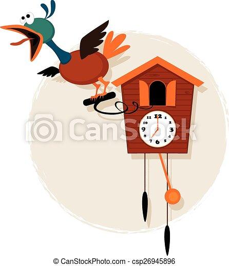 vecteurs eps de dessin anim coucou horloge rigolote. Black Bedroom Furniture Sets. Home Design Ideas