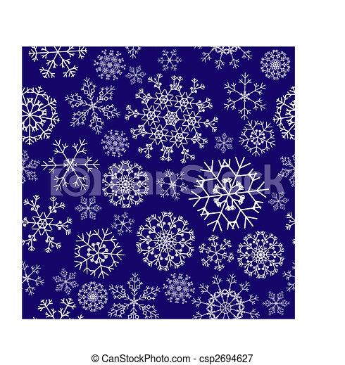 seamless snowflakes background - csp2694627