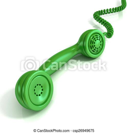 illustrations de combin vert t l phone retro green. Black Bedroom Furniture Sets. Home Design Ideas