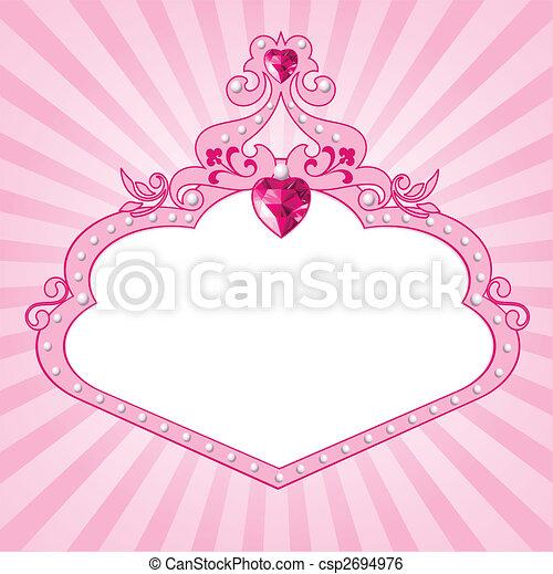 Princess pink frame - csp2694976
