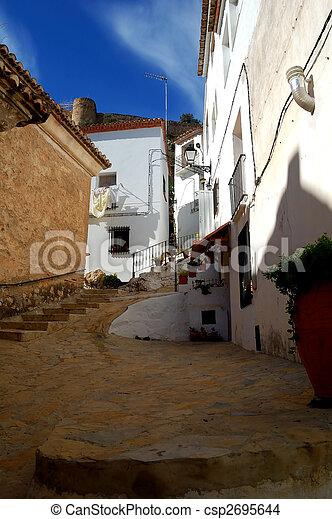 Spanish architecture in Chulilla - Valencia (Spain) - csp2695644