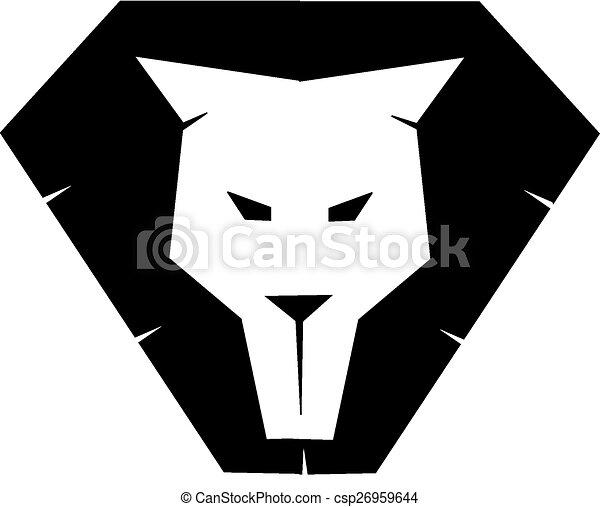 Lion face silhouette - csp26959644