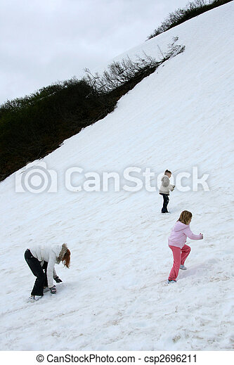 Playing in the Snow - Mt Roberts, Alaska