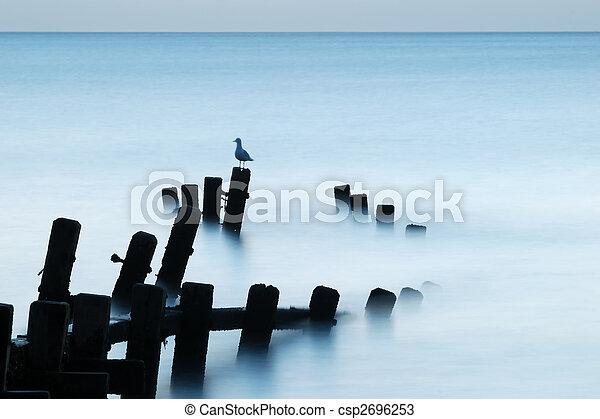 Moonlit Sea, Norfolk - csp2696253