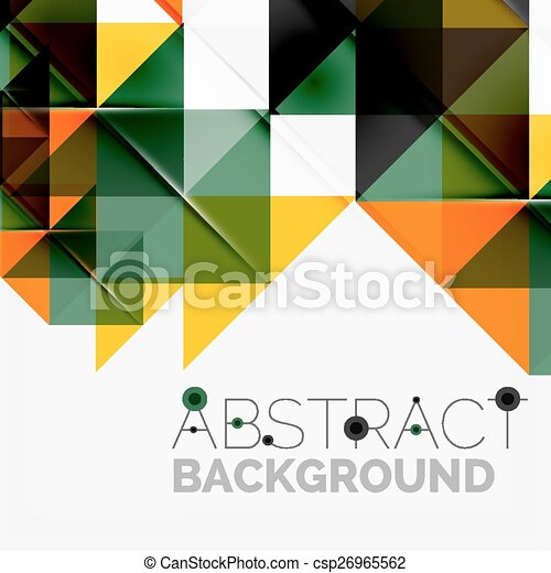 Abstract geometric background. Modern overlapping triangles - csp26965562