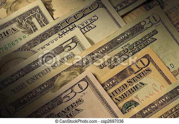 U.S. banknotes of various dollar denominations - csp2697036