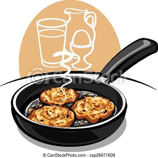 Vector Clipart Of Potato Pancakes Csp26971608 Search