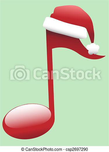 Carol Musical Note for Holiday Christmas Music - csp2697290