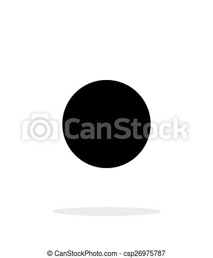Vector of New moon abstract simple icon on white background ...
