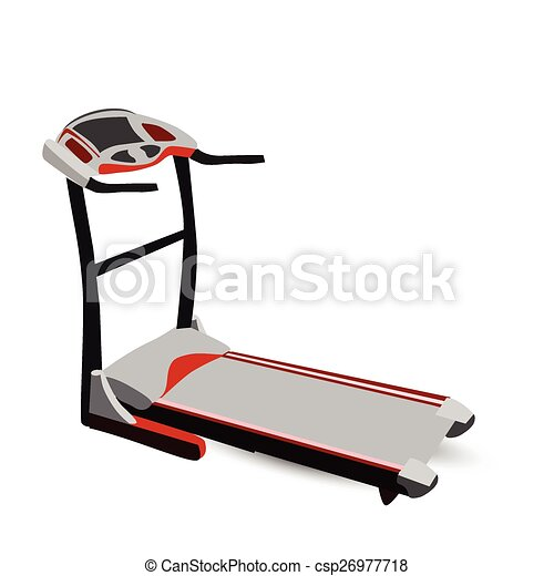 Vector Clip Art of Modern Fitness Walking Machine Isolated on ...