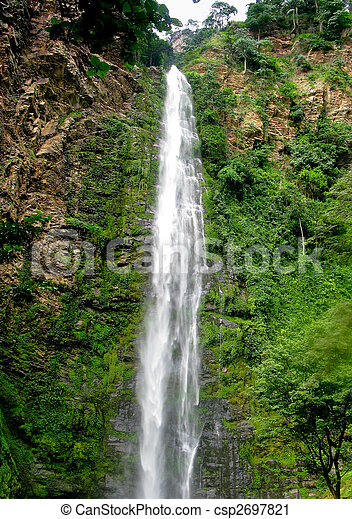 Wli Waterfall in Agumatsa Park in Ghana - csp2697821