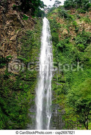 Wli Waterfall in Agumatsa Park in Ghana - csp2697821
