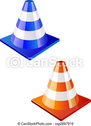 Traffic cone icon - csp2697919