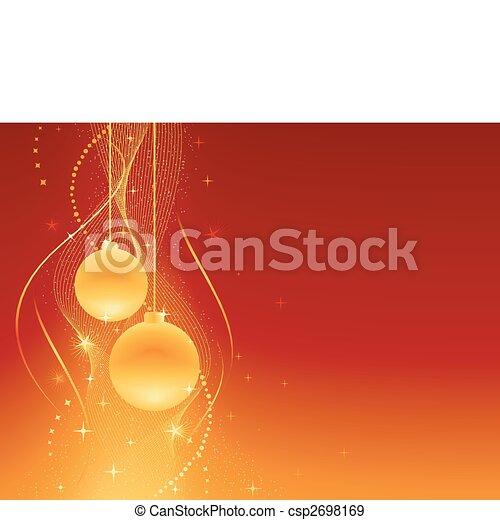 Red golden festive Christmas background - csp2698169