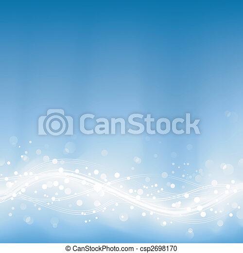 Pale blue defocused lights, light dots - csp2698170