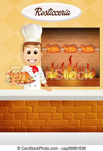 Dessins de poulet r tisserie illustration de poulet - Dessin de poulet ...