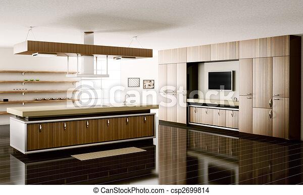 Tekening van interieur keuken 3d render interieur for Keuken plannen in 3d