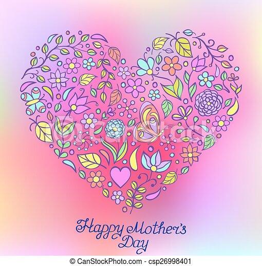 floral heart - csp26998401