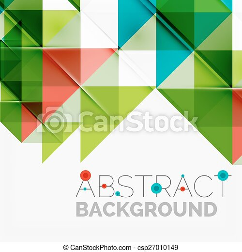 Abstract geometric background. Modern overlapping triangles - csp27010149