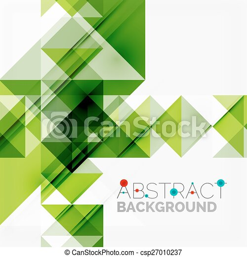 Abstract geometric background. Modern overlapping triangles - csp27010237