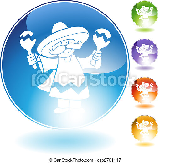 maraca player crystal icon - csp2701117