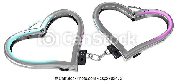 handcuff of love - csp2702473