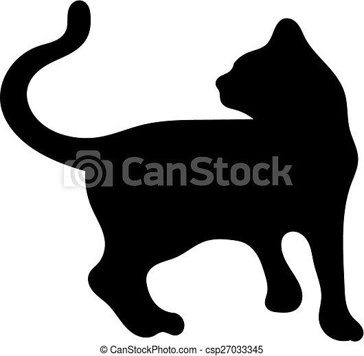 Silhouette of cat - csp27033345