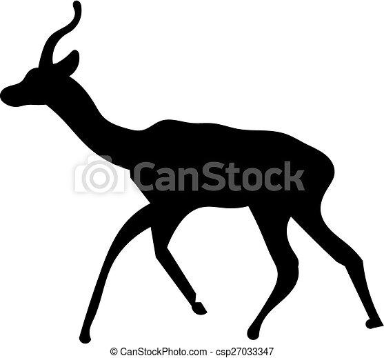 Deer silhouette - csp27033347