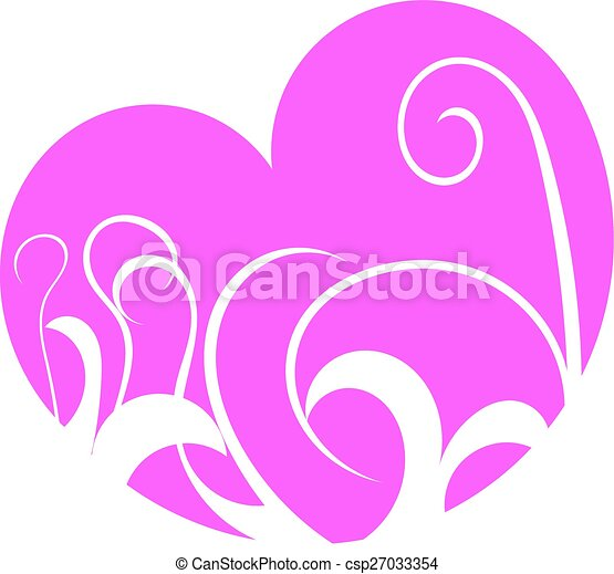Decorated heart - csp27033354