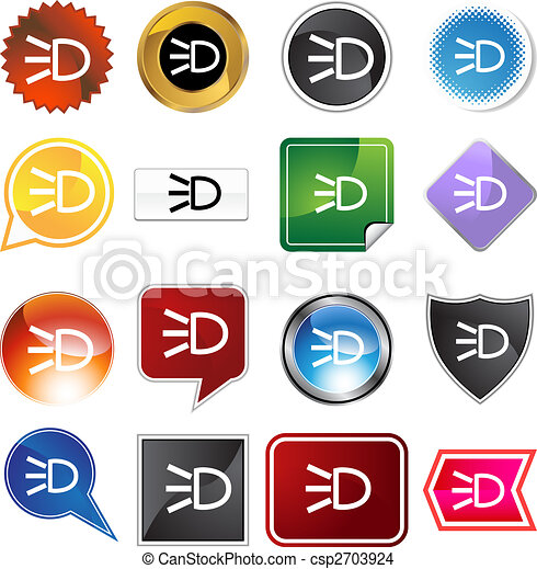 Headlight Icon Set - csp2703924