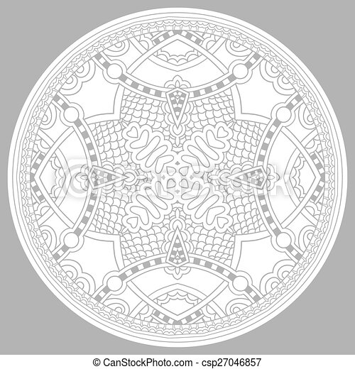 coloring book page for adults - zendala - csp27046857