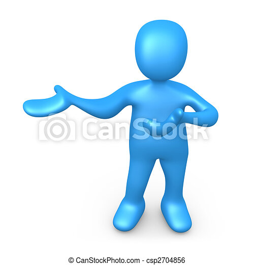 Person Presenting - csp2704856