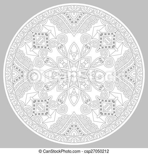 coloring book page for adults - zendala - csp27050212