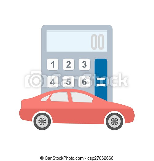Clip Art Vector Of Auto Loan Calculator  Car Vehicle
