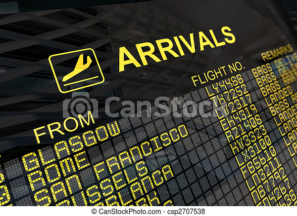 International Airport Arrivals  Board - csp2707538